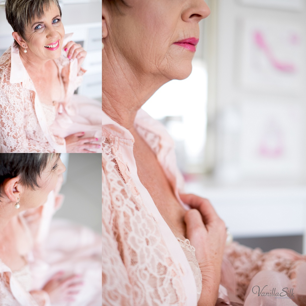 Breast cancer awareness boudoir shoot Vanilla Silk Photography