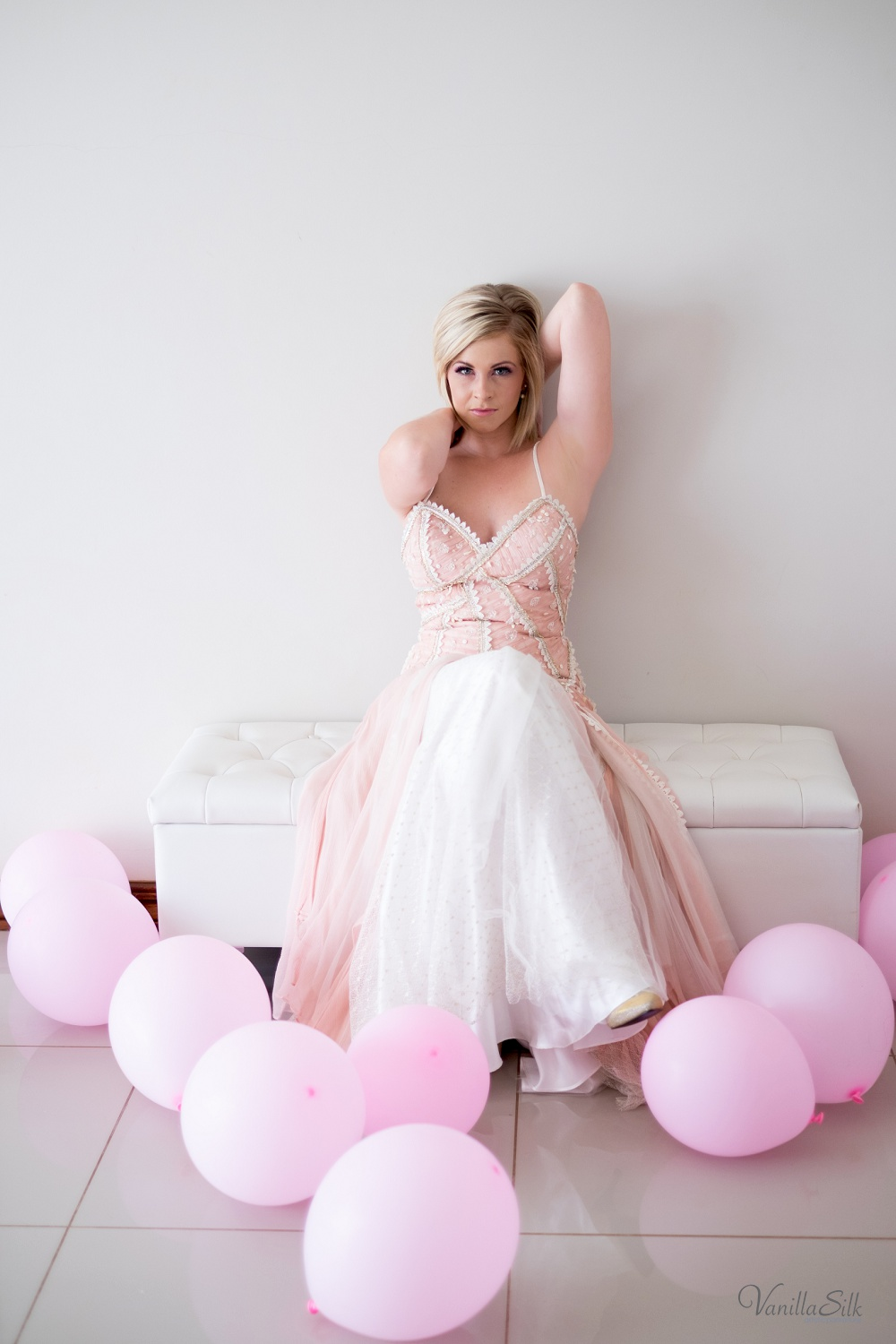 vBreast cancer awareness boudoir shoot Vanilla Silk Photography
